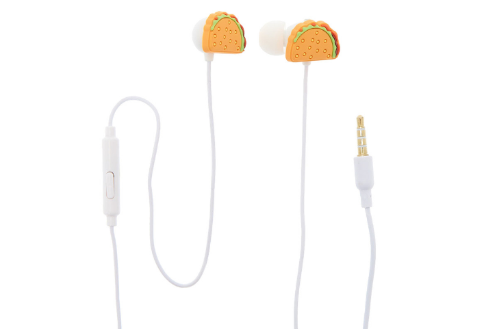 GABBA GOODS® TACO EARBUDS WITH MIC via Icing
