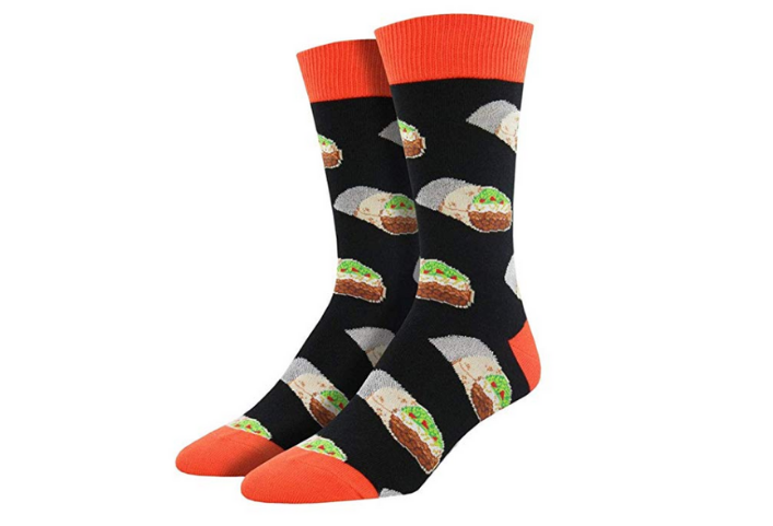 Socksmith Mens Novelty Crew Socks Burritos - One Size via Amazon
